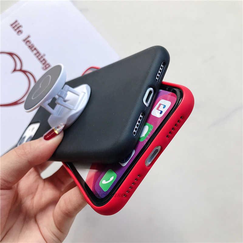 Liefde Hart Standhouder Case Voor Samsung Galaxy A51 Silicone Cover Voor Samsung Galaxy A71 Sm A515F A717F Een 51 71 Tassen