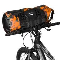 自転車フロントチューブバッグ防水自転車ハンドルパック 3L/7L/10L/15L/20L サイクリングフロントフレームパニエ自転車アクセサリー|自転車用バッグ & パニア|   -