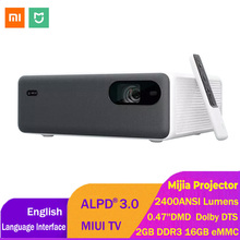 Xiaomi Mijia ALPD3.0 레이저 프로젝터 2400 ANSI 루멘 1920*1080P MIUI TV 16GB eMMC Wifi 블루투스 듀얼 10W 스피커 홈 시어터