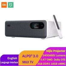 Xiaomi mijia ALPD3.0 レーザープロジェクター 2400 ansiルーメン 1920*1080 1080p miuiテレビ 16 ギガバイトのemmc wifi bluetoothのデュアル 10 ワットスピーカーホームシアター