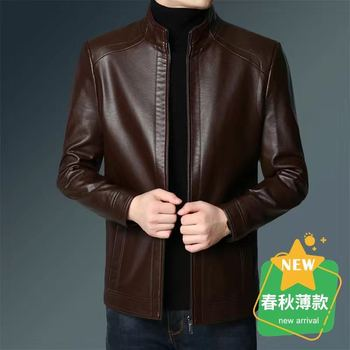 Mens Leather Jackets Motorcycle Stand Collar Zipper Pockets Male PU Coats Biker Faux Leather Fashion Outerwear men clothing 2020 2020 pu leather parkas women fashion hooded faux leather coats women elegant zipper cotton jackets female ladies clothing c20