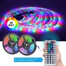 LED Strip Lights 10M RGB Flexible Ribbon Waterproof RGB LED Light 12V DC 44 Key IR Remote Lamp