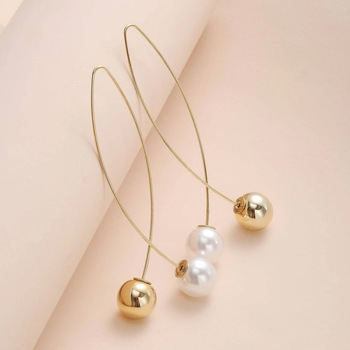 New Cross Imitation Pearl Earrings Jewelry Pearl Jewelry