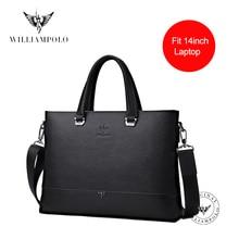 Bag Briefcased Laptop-Bag Shoulder-Bag Document 14inch Genuine-Leather Men's Luxury Fit
