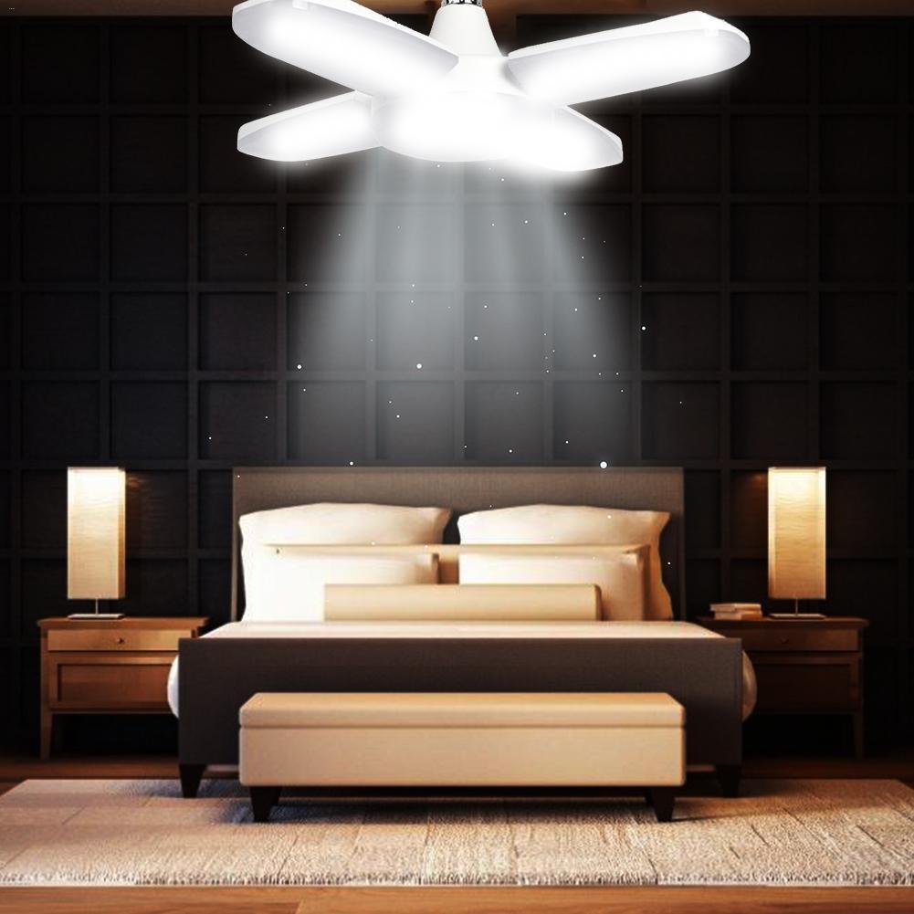 AC 160-265V 60W LED Deformation Lamp With E27 Lamp Holder SMD 2835 90LM/W Led High Bay Light Cool White 6000K