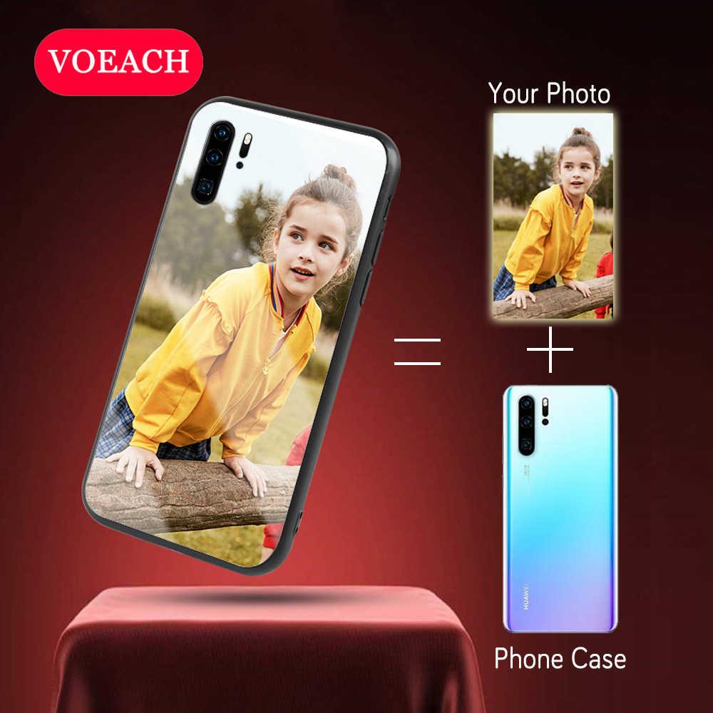 Temperato di Vetro della Cassa Del Telefono Per Huawei P30 P20 Pro Lite Compagno 30 pro Y9 P di smart Plus 2019 Nova 4E 5i Honor 10i 20i 8X Copertina Personalizzata