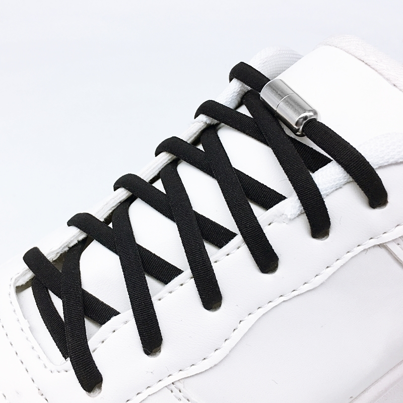 No Tie Quick Elastic Shoelaces Semicircle Shoe Laces For Kids And Adult Sneakers Shoelace  Lazy Metal Lock Laces Shoe Strings