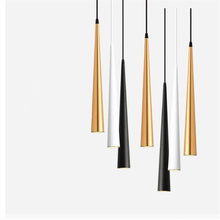 NoDimmable COB Cone LED Modern pendant light Aluminum&metal home 7W 9W 12W 15W hang lamp living room bar cafe droplight fixture