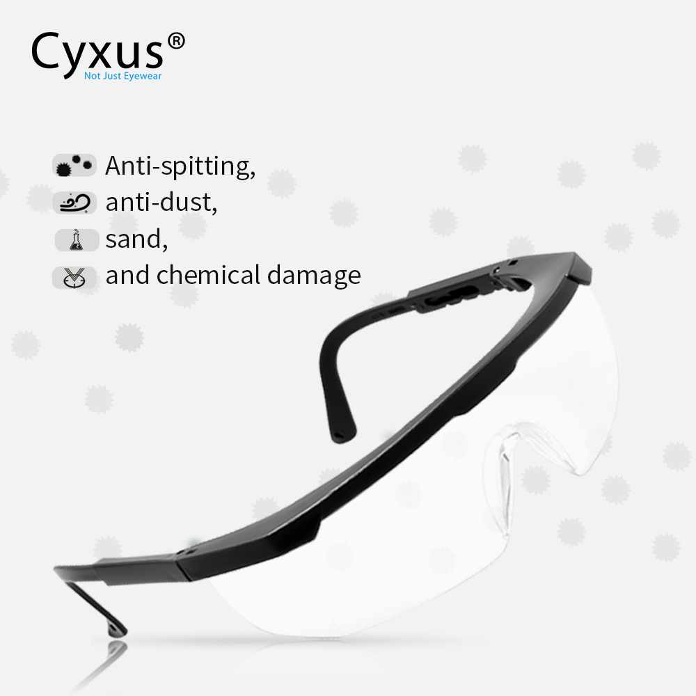 Protective Goggles Anti Virus & Saliva  Anti-Dust &Shock Goggles Transparent Eyepiece Safety Glasses  9002