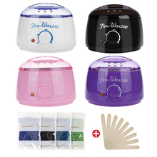 Wax Warmer Heater Paraffin Wax Machine Kit SPA Body Epilator Leg Depilatory Skin Care Hair Removal Tool With Hard Wax Beans 220v depilatory paraffin wax heater warmer eu plug 300g hard wax beans 12 spatulas hair removal set personal care appliance