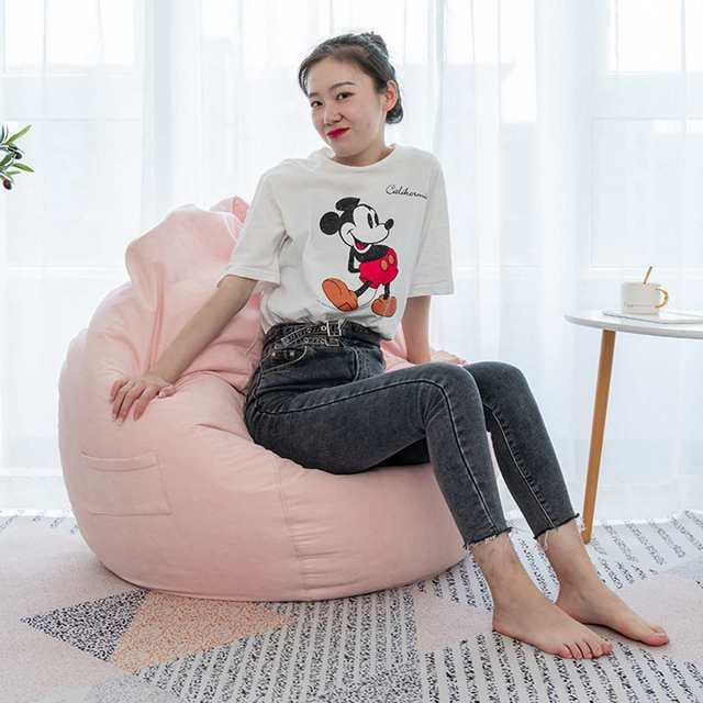 Nesloth Lazy BeanBag Sofas Cover+Inner Liner Chairs without Filler  Lounger Seat Bean Bag Pouf Puff Couch Tatami Living Room 1