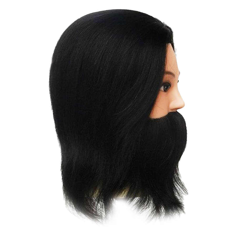 12 in Mannequin Kopf 100% Menschliches Haar Friseur Ausbildung Kopf Puppe Kosmetik Puppe Kopf