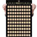 Топ 100 аниме постер с царапинами фотообои драгоценный подарок для аниме список энтузиастов премиум и художественная наклейка #20