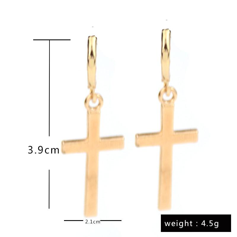 Fashion Personality Cross Dangle Drop Earrings Punk Style Wmen Men Earrings Unisex Jewelry Hip Hop Jewelry Accessories