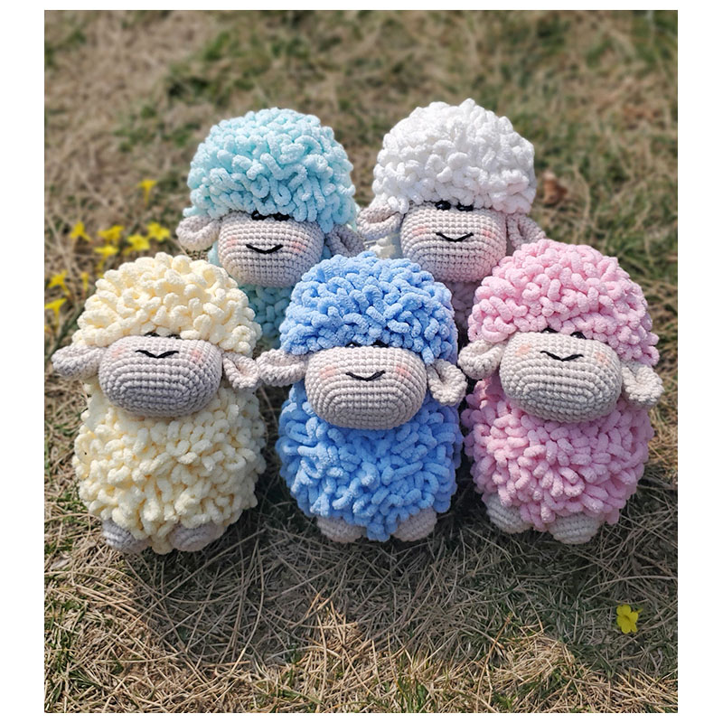 Little Bait Sheep Doll Material Package Crochet toy Hand-woven Wool Hand Knitting Blended Yarn Diy handmade by yourself