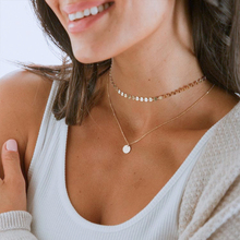 Necklaces Women Jewelry Gift Clavicle-Chain Bohemian Multi-Layer Coin Sequined Birthday-Anniversary