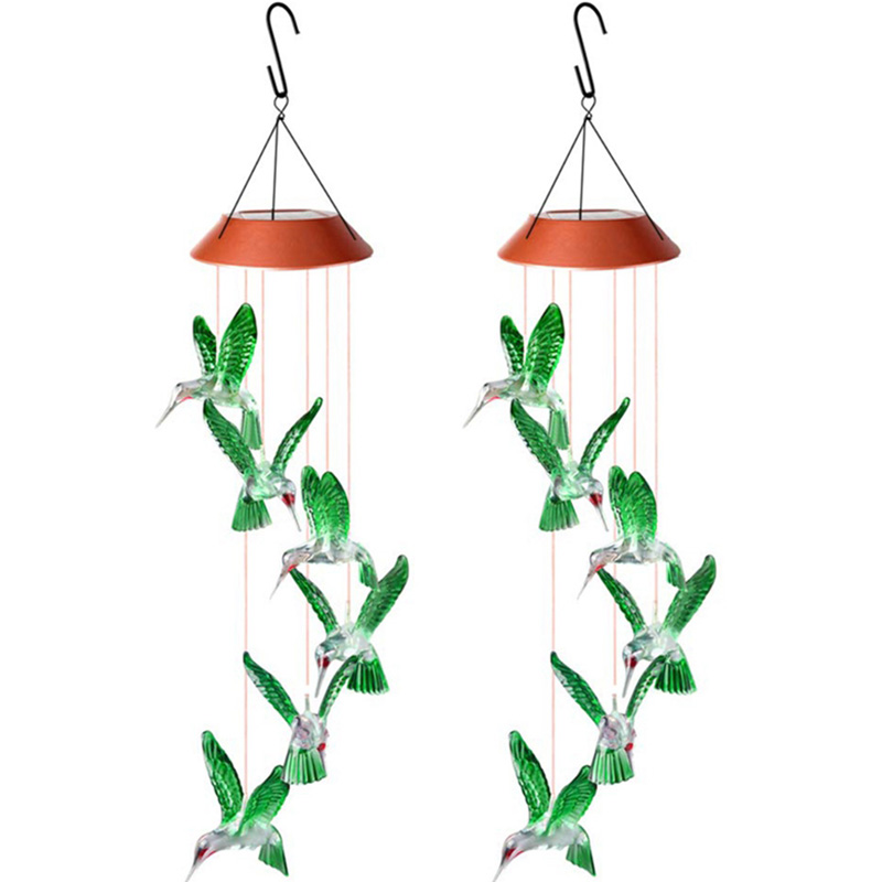 Wind Chime, Hummingbird Wind Chimes Outdoor Indoor, Hummingbird Wind Chime, Solar Wind Chimes, Outdoor Decor
