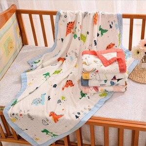 Image 2 - 29 conceptions 4 et 6 couches doux mousseline bambou coton enfants enfants lit couverture nouveau né dormir recevoir bébé couverture Swaddle