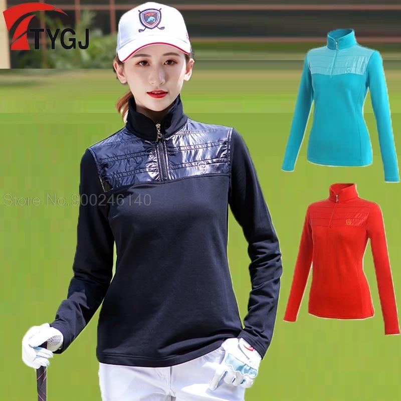 2020 Women Long Sleeve Golf Training T-shirt Tops Women Warm Sports Clothes Sports Golf Tennis Apparel Trainning Shirt 1