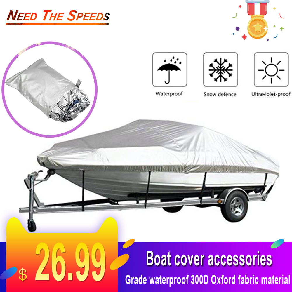 300D Oxford Fabric Anti-smashing Durable And Tear Proof Boat Cover Waterproof Yacht Outdoor Protection Heavy Duty Reflective
