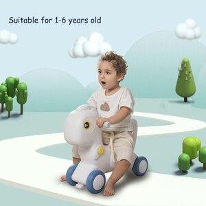 Image 2 - Infantil brilhando crianças animais 2in1 cavalo de balanço brinquedo do bebê cavalo 1 6 anos equilíbrio multi funcional crianças brinquedos internos presente