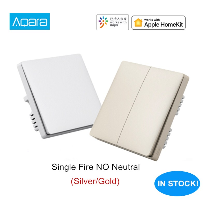 Aqara Wall Switch Mi Smart Home Wireless Key Wall Switch Single Fire ZigBee Version Work With Xiaomi Aqara Hub Gateway
