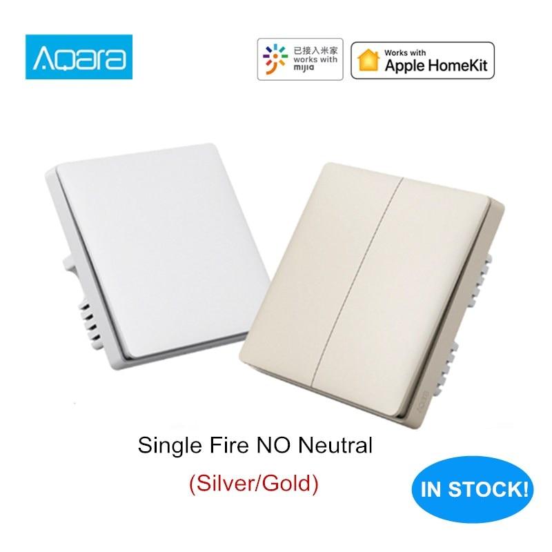 Aqara Wall Switch Mi Smart Home Wireless Key Wall Switch Single Fire ZigBee Version Work With Xiaomi Aqara Hub Gateway