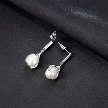YUEYIN 925 Sterling Silver Earrings AAA Zircon Dangle Fashion Korean Lace Design Girls Party Gifts New Arrival