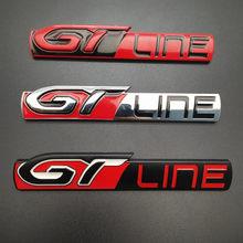 3d metal etiqueta do carro para peugeot 208 308 508 3008 5008 gt linha acessórios emblema lateral do carro adesivos adesivo tronco traseiro decoração