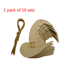Hanging Witch-Hat Halloween Party Home-Decoration DIY Cap Pendant Crafts Wood-Piece Woodwork