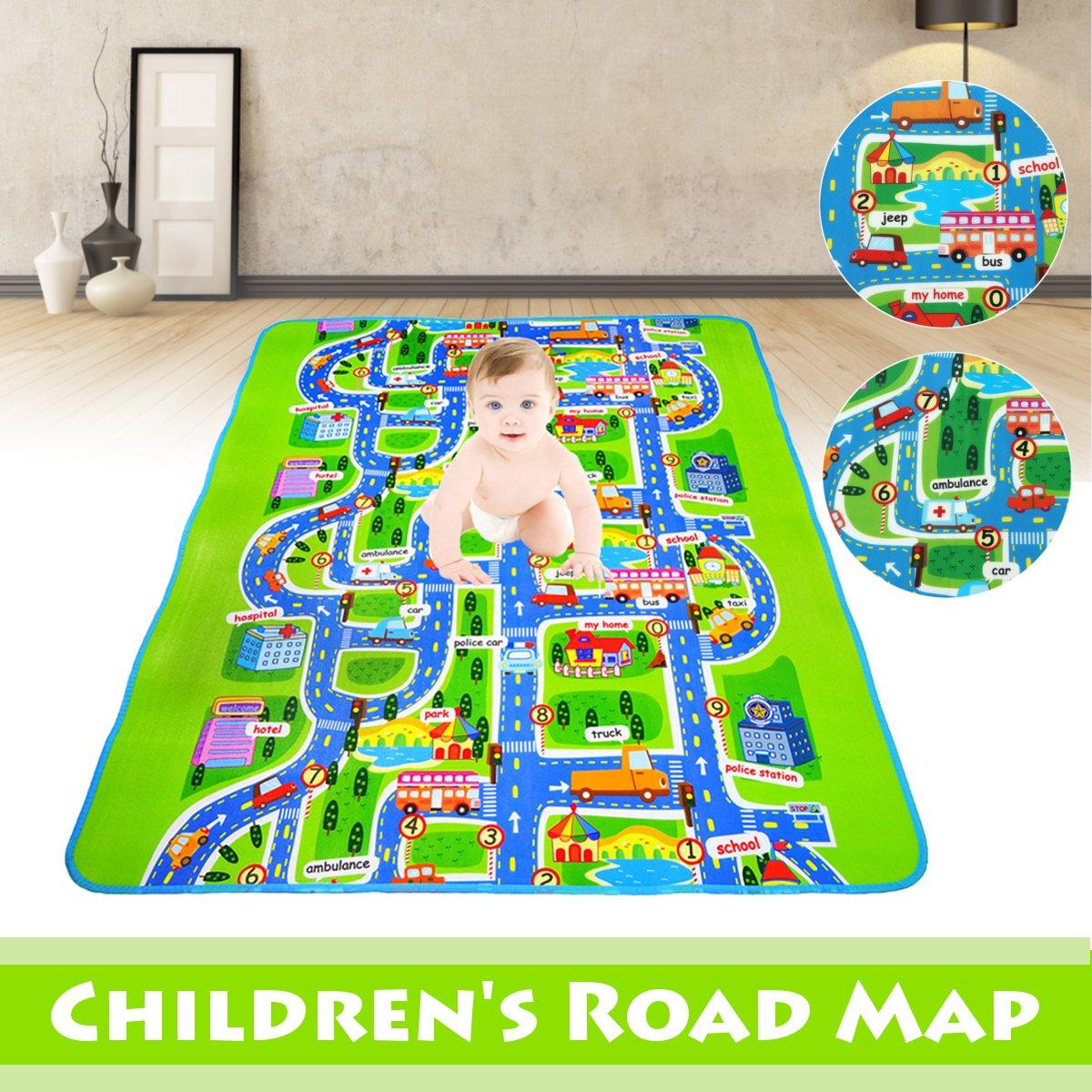 criancas do bebe mapa da estrada da crianca crawl jogar jogo piquenique tapete carta alfabeto esteiras