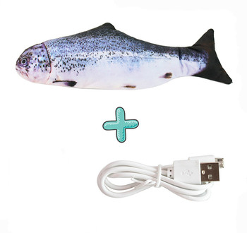 Moving Fish Cat Toy Electronic Flopping Cat Kicker Fish Toy Catnip Fish Toys for Cats Pet Supplies Funny Chew Toy for Indoor Cat 10