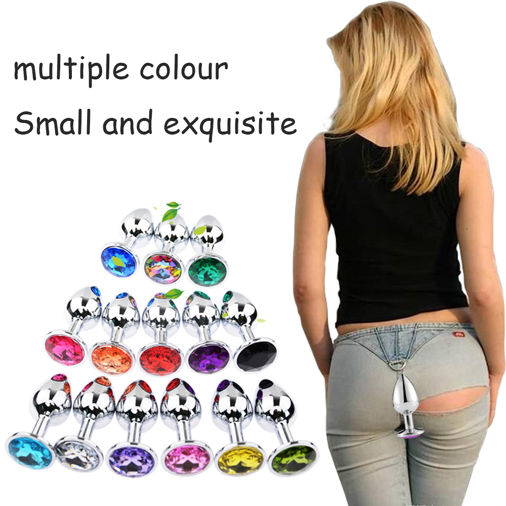 Stainless Steel Metal Big Anal Butt Plug With Crystal Jewelry Smooth Touch Butt Plug Anal Bead Anus Dilator Toys For Men/Women