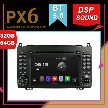 PX6 Excellent Performance Android 9.0 Car Multimedia GPS For Benz A-W169 B-W245 2005-2011 Viano Vito 2009 DSP Navigation Radio