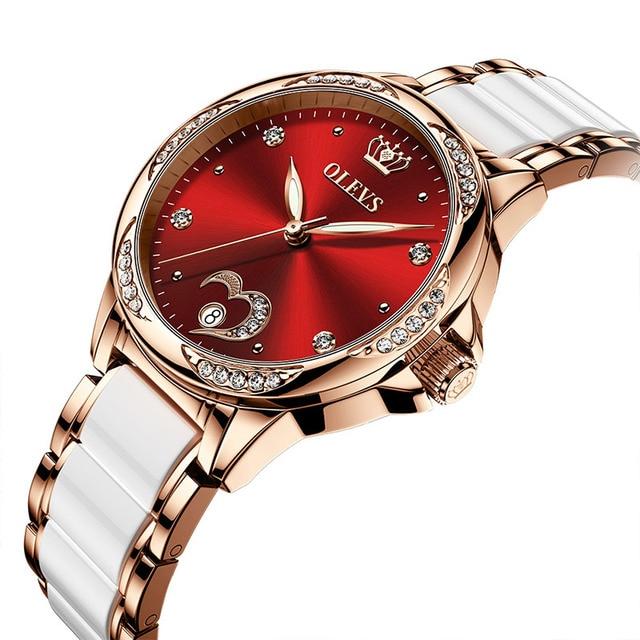 OLEVS Women watch Set Waterproof Automatic Mechanical watch Female Ceramic watch Gift for Women Wristwatches 2