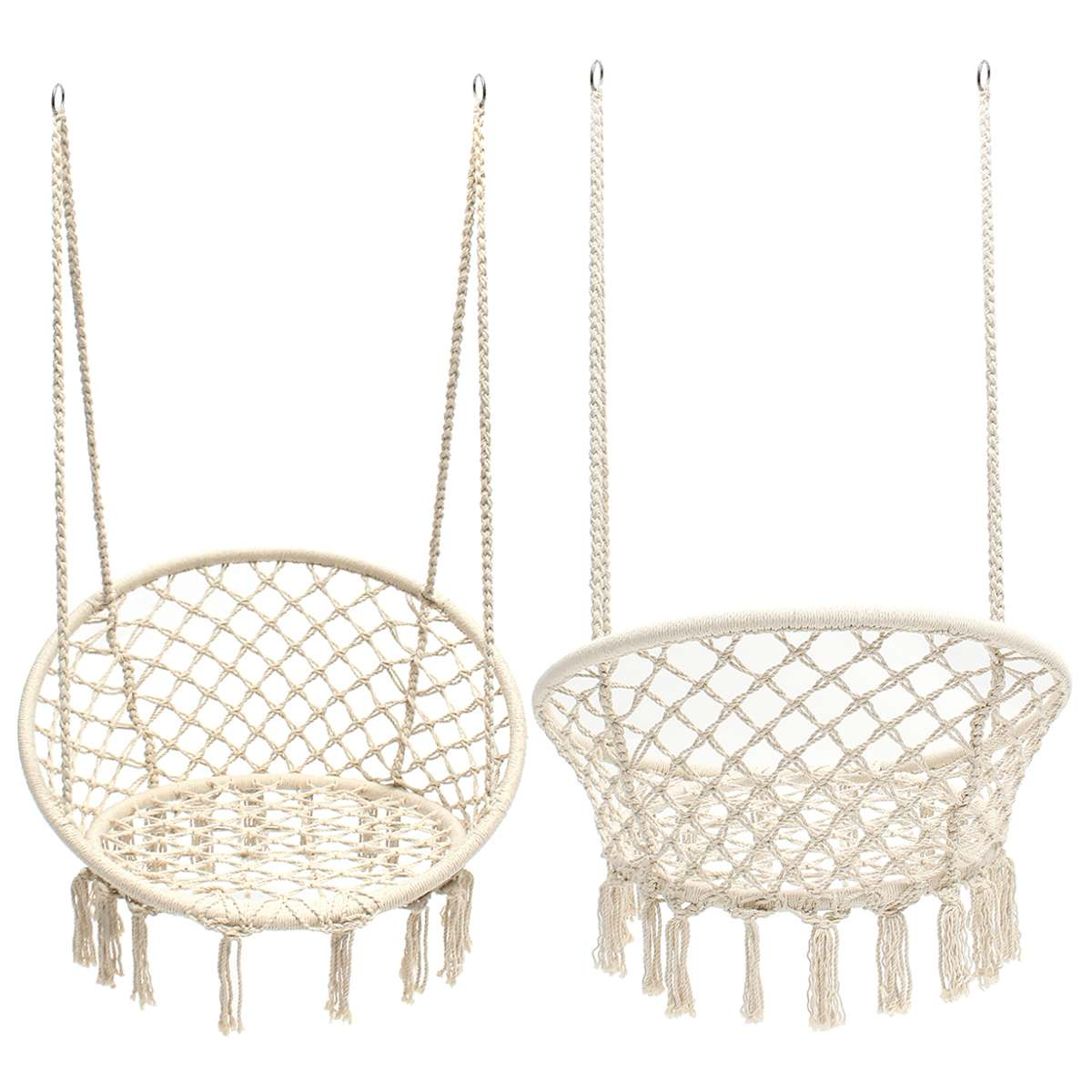 Hanging Hammock Chair Safe Swing Chair Hanging Kit Beige