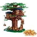 Em estoque 21318 nova casa da árvore as maiores idéias modelo 3000 + peças blocos de construção tijolos crianças brinquedos educativos presentes