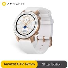 Умные часы Amazfit GTR 42 мм, водонепроницаемые умные часы 5 АТМ, аккумулятор 24 дня, GPS, управление музыкой, кожаный силиконовый ремешок