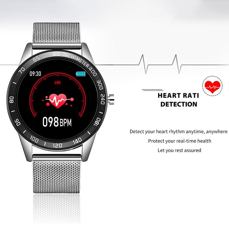 lowest price LIGE New Smart Watch Men Women OLED Color Screen Heart Rate Blood Pressure Multi-Function Mode Sport Smartwatch fitness Tracker