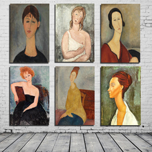 Amedeo Modigliani Best Canvas Painting Print Living Room Home Decoration Artwork Modern Wall Art Oil Painting Posters Picture HD classic amedeo modigliani picasso artwork collection sketch canvas print painting poster wall pictures living room home decor
