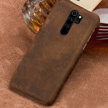 Genuine PULL-UP Leather Phone Case for Xiaomi Redmi Note 8 Pro 8T 8 Note 7 Note 9S 9 Pro Cover For mi 10 9T Pro 9 8 A3 Note 10