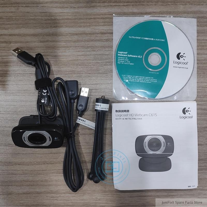 Logitech C615 HD Pro Webcam 1080P Webcam Autofocus Camera Full HD Widescreen Video Calling