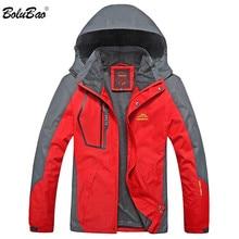 BOLUBAO chaquetas de marca de moda para hombre Otoño Invierno chaqueta para exteriores para hombre chaqueta impermeable con capucha a prueba de viento (sombrero desmontable)