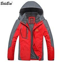 Bolubao 패션 브랜드 남성 자켓 가을 겨울 남성 야외 자켓 남성 방풍 방수 후드 자켓 (분리형 모자)