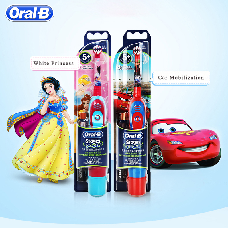 Oral B Sonic Electric Toothbrush For Children Oral Care Best Electronic Brush Kids Stages Battery Power Brush Teeth Random Color image