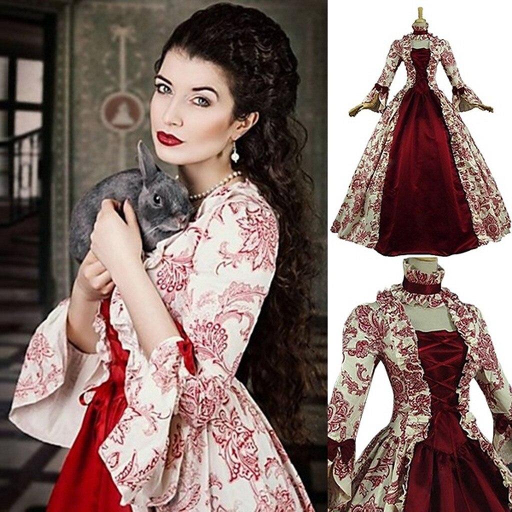 Модные женские туфли Винтаж средневековое готическое платье женские лодочки с квадратным вырезом; в стиле пэчворк Платье с бантом Дамская мода осень зима платье