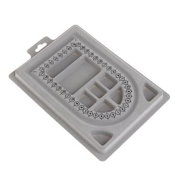 DIY DIY Necklace Tray Design Handmade Necklaces Making Jewelry Tools Crafts Gifts Organizer Measurement Compartment Beads Charms jewelry saw frame adjustable jeweler making diy tools blade handmade crafts arc jewelry tool