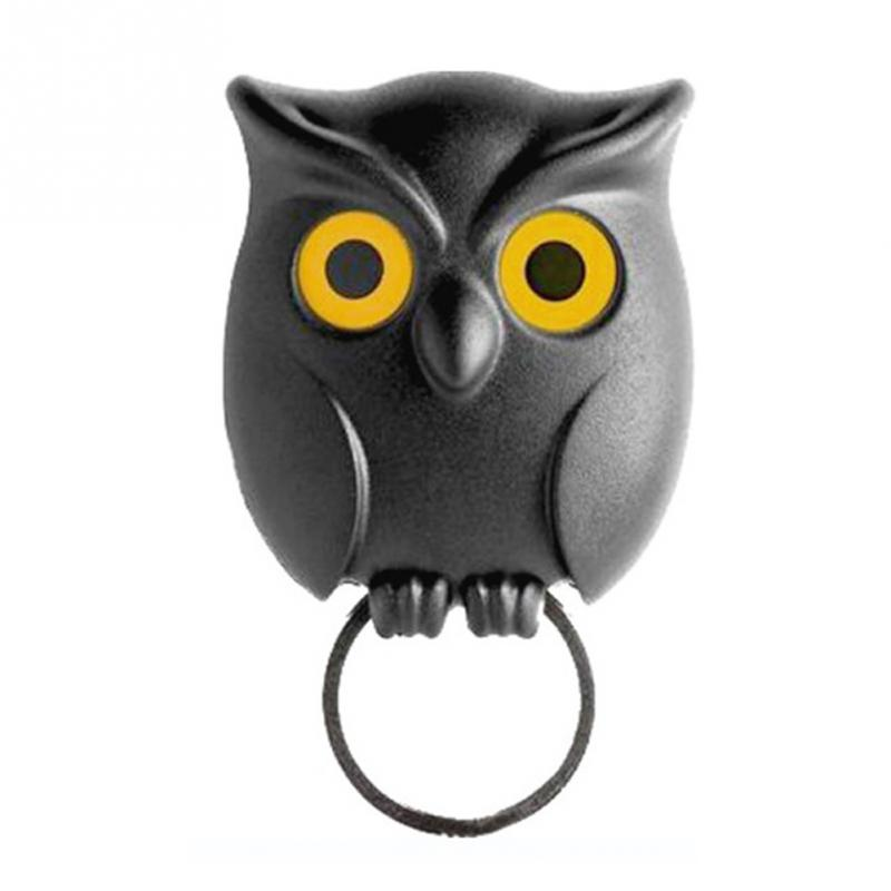 Cute Black Night Owl Magnetic Wall Key Holder Magnets Keep Keychains