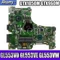 Обмен! ROG материнская плата для ноутбука For Asus GL553VD GL553VE GL553VW ZX63V GL553V GL553 оригинальная материнская плата GTX1050M GTX960M i7/I5