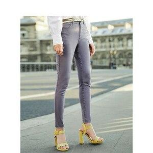 Image 3 - Inmanミディアムハイウエストスリム韓国のファッションスリムすべて一致した女性カジュアル鉛筆のズボン